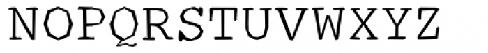 Courier Ragged Lite Font UPPERCASE