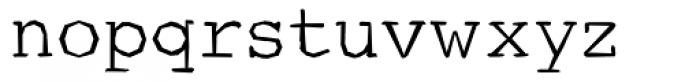 Courier Ragged Lite Font LOWERCASE
