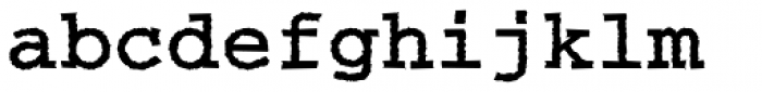 Courier Rough Bold Font LOWERCASE