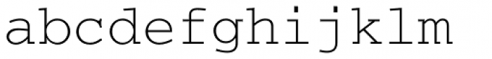 Courier Font LOWERCASE