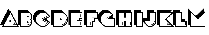 CrackMan-Regular Font LOWERCASE