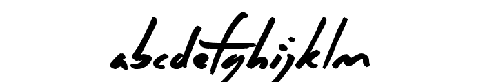 Crazy Thoughts Font LOWERCASE