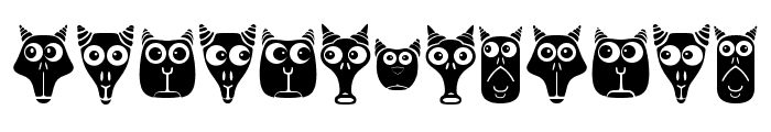 Creatures with Horns Regular Font LOWERCASE