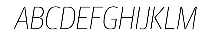 GuardianSansCond ThinIt Reduced Font UPPERCASE