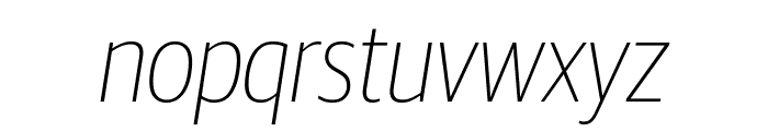 GuardianSansCond ThinIt Reduced Font LOWERCASE