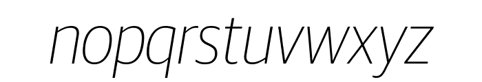 GuardianSansNarrow ThinIt Reduced Font LOWERCASE