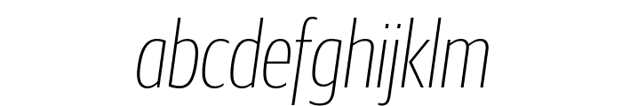 GuardianSansXCond ThinIt Reduced Font LOWERCASE