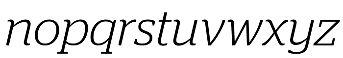 Stag LightItalic Reduced Font LOWERCASE