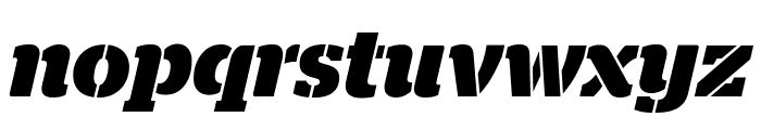 StagStencil BoldItalic Reduced Font LOWERCASE