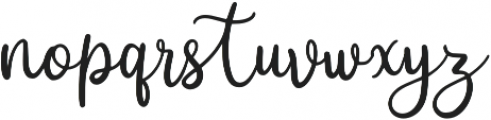 Curlys otf (400) Font LOWERCASE