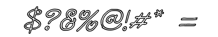 Curlmudgeon Hollow Italic Font OTHER CHARS