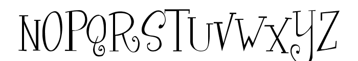 Curly Cue Font UPPERCASE