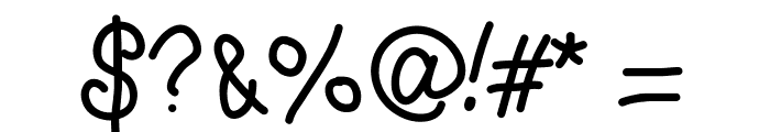 CurlyLetters Font OTHER CHARS