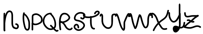 CurlyLetters Font UPPERCASE