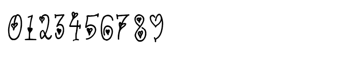 Cute Letters Hearted Font OTHER CHARS