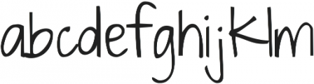 Dawning of a New Day ttf (400) Font LOWERCASE