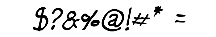 Darbog Italic Font OTHER CHARS