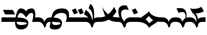 Dardanian Righthand4 Font LOWERCASE