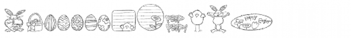 DB Easter Bunny Font LOWERCASE