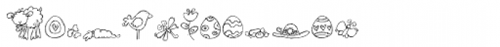 DB Easter Fun Doodles Font UPPERCASE