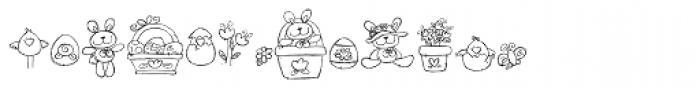 DB Easter Fun Doodles Font LOWERCASE