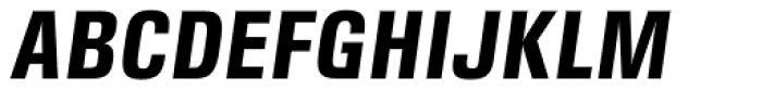 DDT Cond Bold Italic Font UPPERCASE