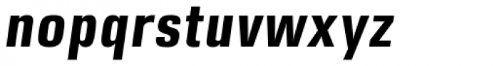 DDT Cond Bold Italic Font LOWERCASE
