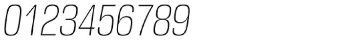 DDT Cond ExtraLight Italic Font OTHER CHARS