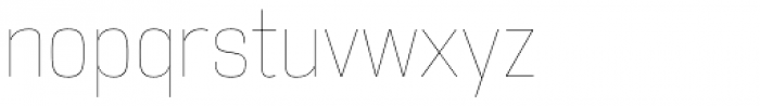DDT Cond UltraLight Font LOWERCASE