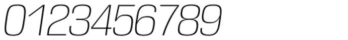 DDT ExtraLight Italic Font OTHER CHARS