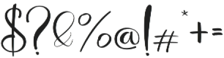 Deliciously Regular otf (400) Font OTHER CHARS