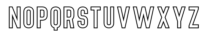 Denso Bold Outline Font LOWERCASE