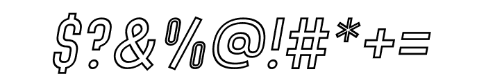 Denso Light Outline Italic Font OTHER CHARS