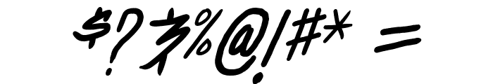 Dealspinner TBS Italic Font OTHER CHARS