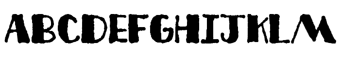 Deco Freehand Font LOWERCASE