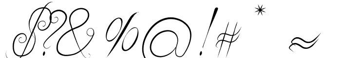 Delicious Curls Font OTHER CHARS