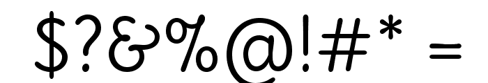 Delius-Regular Font OTHER CHARS