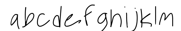 Desperate For You Font LOWERCASE