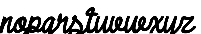 DHF Broffont Script Italic Font LOWERCASE