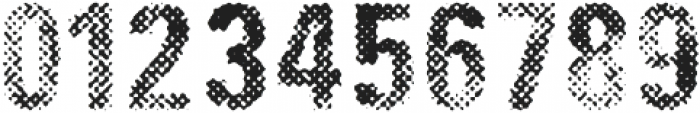 DIRTY HALFTONE ttf (400) Font OTHER CHARS