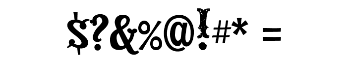 DickensMcQueen Font OTHER CHARS