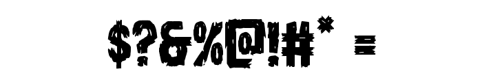 Dire Wolf Staggered Regular Font OTHER CHARS
