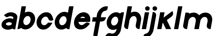 Discreet Bold Inclined Font LOWERCASE