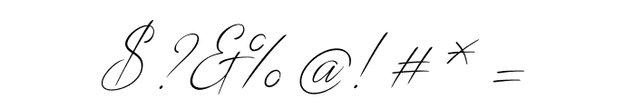 DistantStroke Font OTHER CHARS