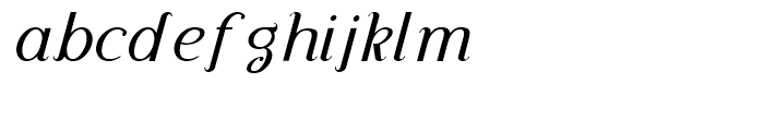 Diplomatica Italic Font LOWERCASE