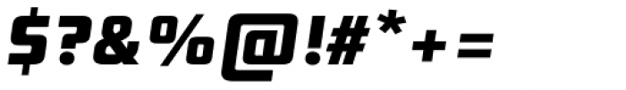 Digital Sans Now ML Cond ExtraBold Italic Font OTHER CHARS