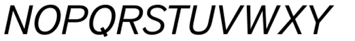 District Book Italic Font UPPERCASE