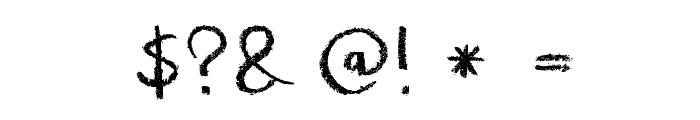 DK Crayon Crumble Font OTHER CHARS