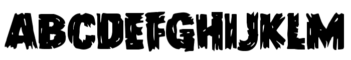 Dokter Monstro Staggered Font LOWERCASE