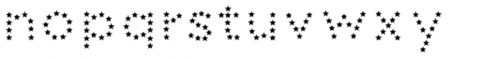 Dolcissimo Stars2 Font LOWERCASE